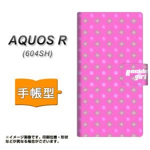 メール便送料無料 AQUOS R 604SH 手帳型スマホケース 【 YC878 ポルカ03 】横開き (アクオスR 604SH/604SH用/スマホケース/手帳式)