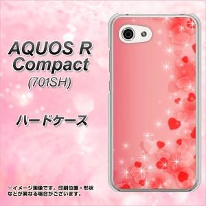 AQUOS R Compact 701SH ハードケース / カバー【003 ハート色の夢 素材クリア】(アクオスR コンパクト 701SH/701SH用)