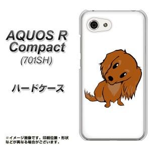 AQUOS R Compact 701SH ハードケース / カバー【YJ175 犬 Dog ミニチュアダックスフンド 素材クリア】(アクオスR コンパクト 701SH/701S