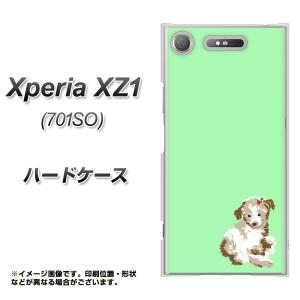 Xperia XZ1 701SO ハードケース / カバー【YJ075 トイプー07 グリーン  素材クリア】(エクスペリア XZ1 701SO/701SO用)