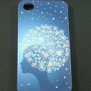 iPhone4s/iPhone4 対応 スワロフスキー デコケース【470 フラワーヘアー】