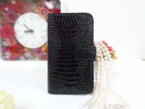 メール便送料無料 全機種対応 手帳型 スマホケース 【クロコダイル】Xperia X SOV33 Galaxy S7 SCV33 AQUOS U SHV35 AQUOS SERIE SHV34