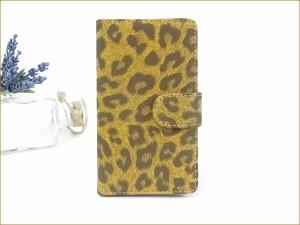 iphone8 ケース 手帳型 スマホケース 手帳型 Xperia XZ1 SOV36 iphoneX ケース 全機種対応 かわいい レオパード aquos メール便送料無料