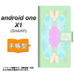 メール便送料無料 android one X1 手帳型スマホケース 【 YC842 ロココ02 】横開き (アンドロイドワン X1/ANDONEX1用/スマホケース/手帳