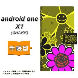 メール便送料無料 android one X1 手帳型スマホケース 【 YC859 スマイル02 】横開き (アンドロイドワン X1/ANDONEX1用/スマホケース/手