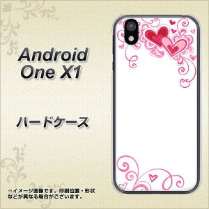 android one X1 ハードケース / カバー【365 ハートフレーム 素材クリア】(アンドロイドワン X1/ANDONEX1用)
