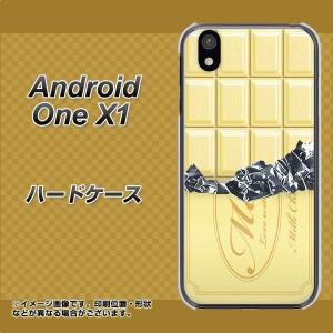 android one X1 ハードケース / カバー【553 板チョコ-ホワイト 素材クリア】(アンドロイドワン X1/ANDONEX1用)