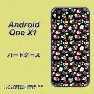 android one X1 ハードケース / カバー【778 マイクロリバティプリントBK 素材クリア】(アンドロイドワン X1/ANDONEX1用)