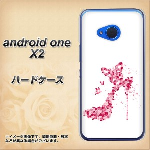 android one X2 ハードケース / カバー【387 薔薇のハイヒール 素材クリア】(アンドロイドワン X2/ANDONEX2用)