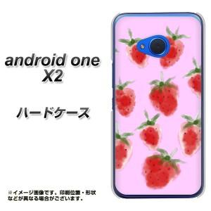 android one X2 ハードケース / カバー【YJ180 苺 いちご かわいい おしゃれ フルーツ 素材クリア】(アンドロイドワン X2/ANDONEX2用)