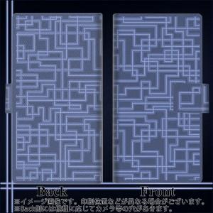 メール便送料無料 ZenFone3 Laser ZC551KL 手帳型スマホケース 【 569 ブルーライン 】横開き (ゼンフォン3レーザー ZC551KL/ZC551KL用/