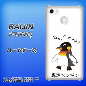 FREETEL FTJ162E RAIJIN ハードケース / カバー【VA925 想定ペンギン 素材クリア】(フリーテル 雷神 FTJ162E/FTJ162E用)