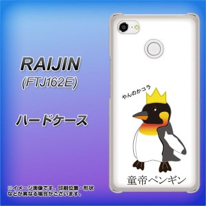 FREETEL FTJ162E RAIJIN ハードケース / カバー【VA926 童帝ペンギン 素材クリア】(フリーテル 雷神 FTJ162E/FTJ162E用)