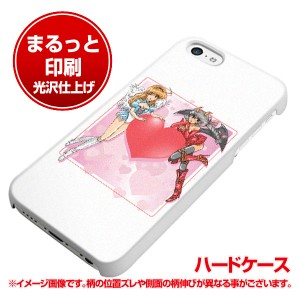 iPhone5c (docomo/au/SoftBank) ハードケース【まるっと印刷 426 ハートの天使と悪魔 光沢仕上げ】横まで印刷(アイフォン5c/IPHONE5C用)