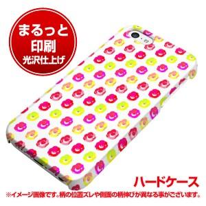iPhone5c (docomo/au/SoftBank) ハードケース【まるっと印刷 792 マイクロドット柄カラフルローズWH 光沢仕上げ】横まで印刷(アイフォン5