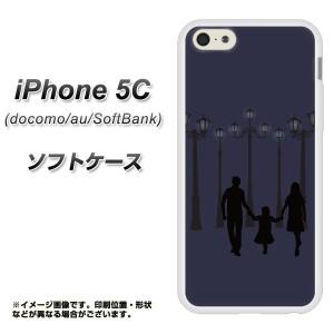 iPhone5c (docomo/au/SoftBank) TPU ソフトケース / やわらかカバー【EK819 街灯ファミリー 素材ホワイト】 UV印刷 (アイフォン5C/IPHON