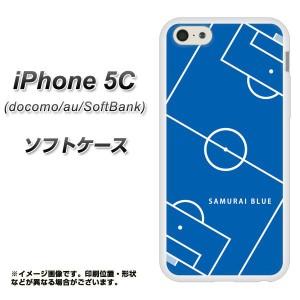 iPhone5c (docomo/au/SoftBank) TPU ソフトケース / やわらかカバー【IB922 SOCCER_ピッチ 素材ホワイト】 UV印刷 (アイフォン5C/IPHONE