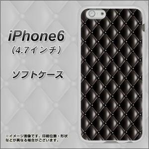 iPhone6 (4.7インチ) TPU ソフトケース / やわらかカバー【633 キルトブラック 素材ホワイト】 UV印刷 (アイフォン6 (4.7インチ)/IPHONE