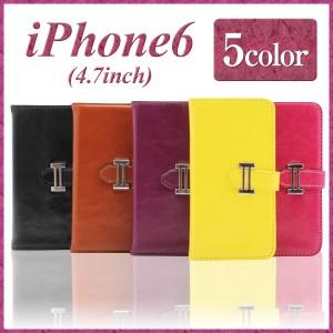iPhone6 ケース カバー 手帳型 スマホケース【エコレザー 5色】 iPhone6 カバー iPhone6 ケース スマホカバー