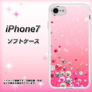 iPhone7 TPU ソフトケース / やわらかカバー【SC822 スワロデコ 素材ホワイト】 UV印刷 (アイフォン7/IPHONE7用)