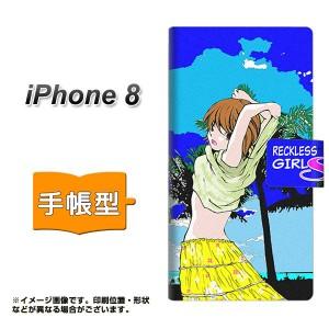 メール便送料無料 iPhone8 手帳型スマホケース 【 YC973 ピンナップガール04 】横開き (アイフォン8/IPHONE8用/スマホケース/手帳式)