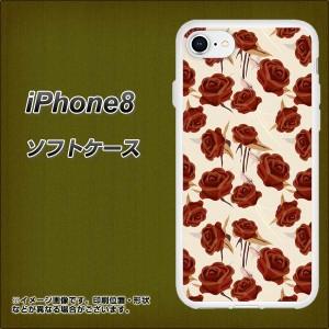 iPhone8 TPU ソフトケース / やわらかカバー【1157 クラシックローズ 素材ホワイト】(アイフォン8/IPHONE8用)
