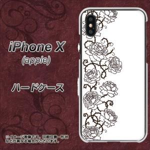 Apple iPhone X ハードケース / カバー【467 イバラ 素材クリア】(アップル アイフォンX/IPHONEX用)