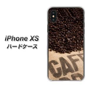 Apple iPhone XS ハードケース / カバー【VA854 コーヒー豆 素材クリア】 UV印刷 (アイフォンXS/IPHONEXS用)