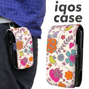 アイコス ケース レザー iQOS ケース 323 小鳥と花 新型 2.4Plus 対応 ギフト iqos 革 ケース レザーケース メール便送料無料