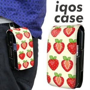 アイコス ケース レザー iQOS ケース 1312 ハーフカットストロベリー 新型 2.4Plus 対応 ギフト iqos 革 ケース メール便送料無料