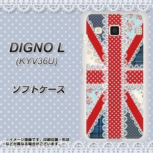 DIGNO L KYV36U TPU ソフトケース / やわらかカバー【SC805 ユニオンジャック レース 素材ホワイト】(ディグノL KYV36U/KYV36U用)
