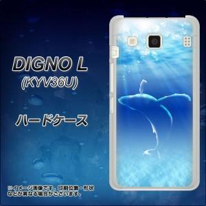 DIGNO L KYV36U ハードケース / カバー【1047 海の守り神くじら 素材クリア】(ディグノL KYV36U/KYV36U用)