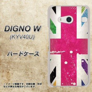 DIGNO W KYV40U ハードケース / カバー【SC806 ユニオンジャック ピンクビンテージ 素材クリア】(ディグノW KYV40U/KYV40U用)