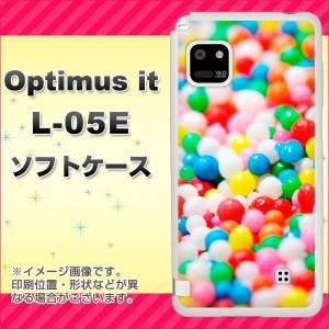docomo Optimus it L-05E TPU ソフトケース / やわらかカバー【443 スプリンクル 素材ホワイト】 UV印刷 (オプティマス it/L05E用)