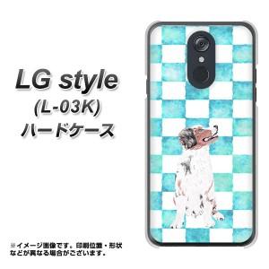 docomo LG style L-03K ハードケース / カバー【YJ224 シェパード 犬 イヌ いぬ チェッカー かわいい 素材クリア】(ドコモ LG style L