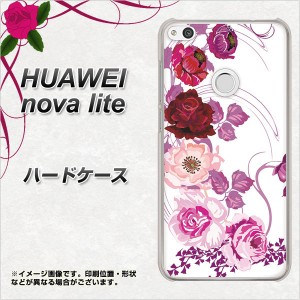 HUAWEI nova lite ハードケース / カバー【116 6月のバラ 素材クリア】(ファーウェイ nova lite/NOVALITE用)