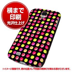 docomo Galaxy S4 SC-04E ハードケース【まるっと印刷 791 マイクロドット柄カラフルローズBK 光沢仕上げ】横まで印刷(