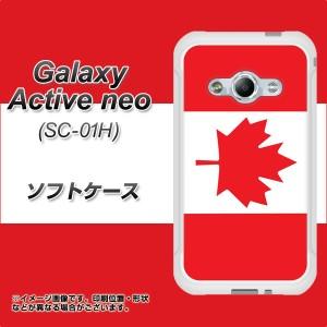 Galaxy Active neo SC-01H TPU ソフトケース / やわらかカバー【669 カナダ 素材ホワイト】 UV印刷 (ギャラクシーアクティブネオ SC-01H