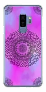 docomo Galaxy S9+ SC-03K ハードケース / カバー【YJ344 レース 素材クリア】(ギャラクシー S9プラス SC-03K/SC03K用)