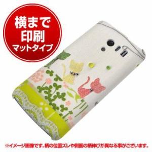 docomo AQUOS PHONE EX SH-04E ハードケース【横まで印刷 1106 クラフト写真 ネコ (ワイヤー2) マット調】(アクオスフ