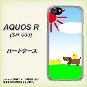 AQUOS R SH-03J ハードケース / カバー【VB800 犬とヒヨコ 素材クリア】(アクオスR SH-03J/SH03J用)