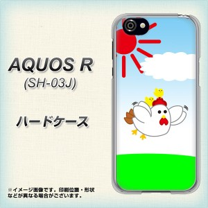 AQUOS R SH-03J ハードケース / カバー【VB801 空飛ぶニワトリ 素材クリア】(アクオスR SH-03J/SH03J用)