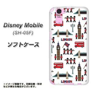 Disney Mobile SH-05F TPU ソフトケース / やわらかカバー【EK811 ロンドンの街 素材ホワイト】 UV印刷 (ディズニー モバイル/SH05F用)