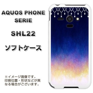 au AQUOS PHONE SERIE SHL22 TPU ソフトケース / やわらかカバー【MI803 冬の夜空 素材ホワイト】 UV印刷 (アクオスフォンSERIE/SHL22用