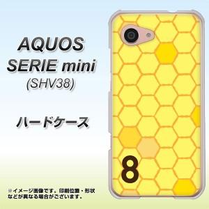 AQUOS SERIE mini SHV38 ハードケース / カバー【IB913 はちの巣 素材クリア】(アクオス セリエ ミニ SHV38/SHV38用)