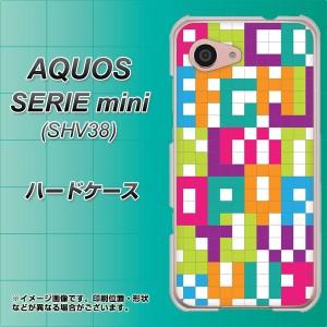 AQUOS SERIE mini SHV38 ハードケース / カバー【IB916 ブロックアルファベット 素材クリア】(アクオス セリエ ミニ SHV38/SHV38用)