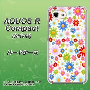 AQUOS R Compact SHV41 ハードケース / カバー【606 マーガレット 素材クリア】(アクオスR コンパクト SHV41/SHV41用)