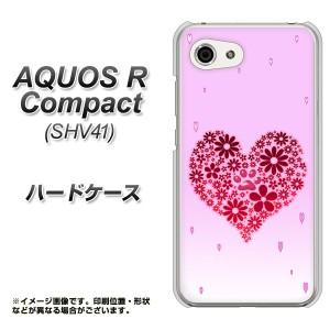AQUOS R Compact SHV41 ハードケース / カバー【YA957 ハート04 素材クリア】(アクオスR コンパクト SHV41/SHV41用)
