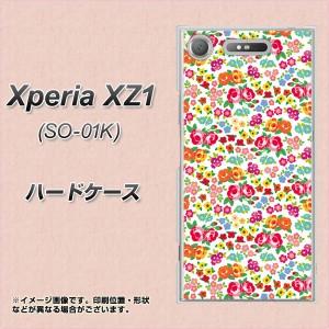 Xperia XZ1 SO-01K ハードケース / カバー【777 マイクロリバティプリントWH 素材クリア】(エクスペリア XZ1 SO-01K/SO01K用)