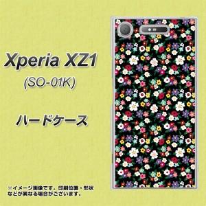 Xperia XZ1 SO-01K ハードケース / カバー【778 マイクロリバティプリントBK 素材クリア】(エクスペリア XZ1 SO-01K/SO01K用)